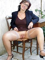 mature ladies in hose